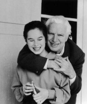 چارلی چاپلین و دخترش