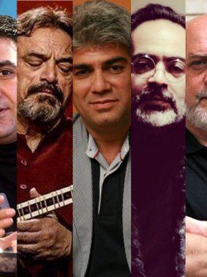 حسین علیزاده کارن همایونفر ستار اورکی کریستف رضاعی