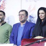 لیلا حاتمی و پیمان معادی در نشست فیلم بمب