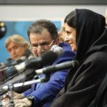 حبیب رضایی و لیلا حاتمی در نشست فیلم بمب