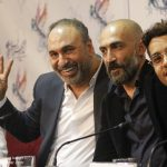 ساعد سهیلی و هادی حجازی فر و حمید فرخ نژاد در نشست فیلم لاتاری