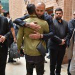 شاهد احمدلو و حامی در مراسم سوم ناصر چشم آذر