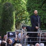 حامی در مراسم تشییع ناصر چشم آذر