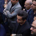 میلاد فرهودی در مراسم تشییع ناصر چشم آذر