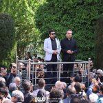 بابک صحرایی و شاهد احمدلو در مراسم تشییع ناصر چشم آذر