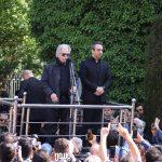 منوچهر اسماعیلی و بابک صحرایی در مراسم تشییع ناصر چشم آذر
