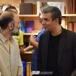 آریا عظیمی نژاد و علی کهن دیری در مراسم رونمایی آلبوم اهورا ایمان