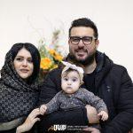 محسن کیایی و همسر و فرزندش