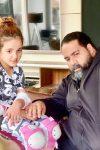 زضا صادقی و دخترش تیارا